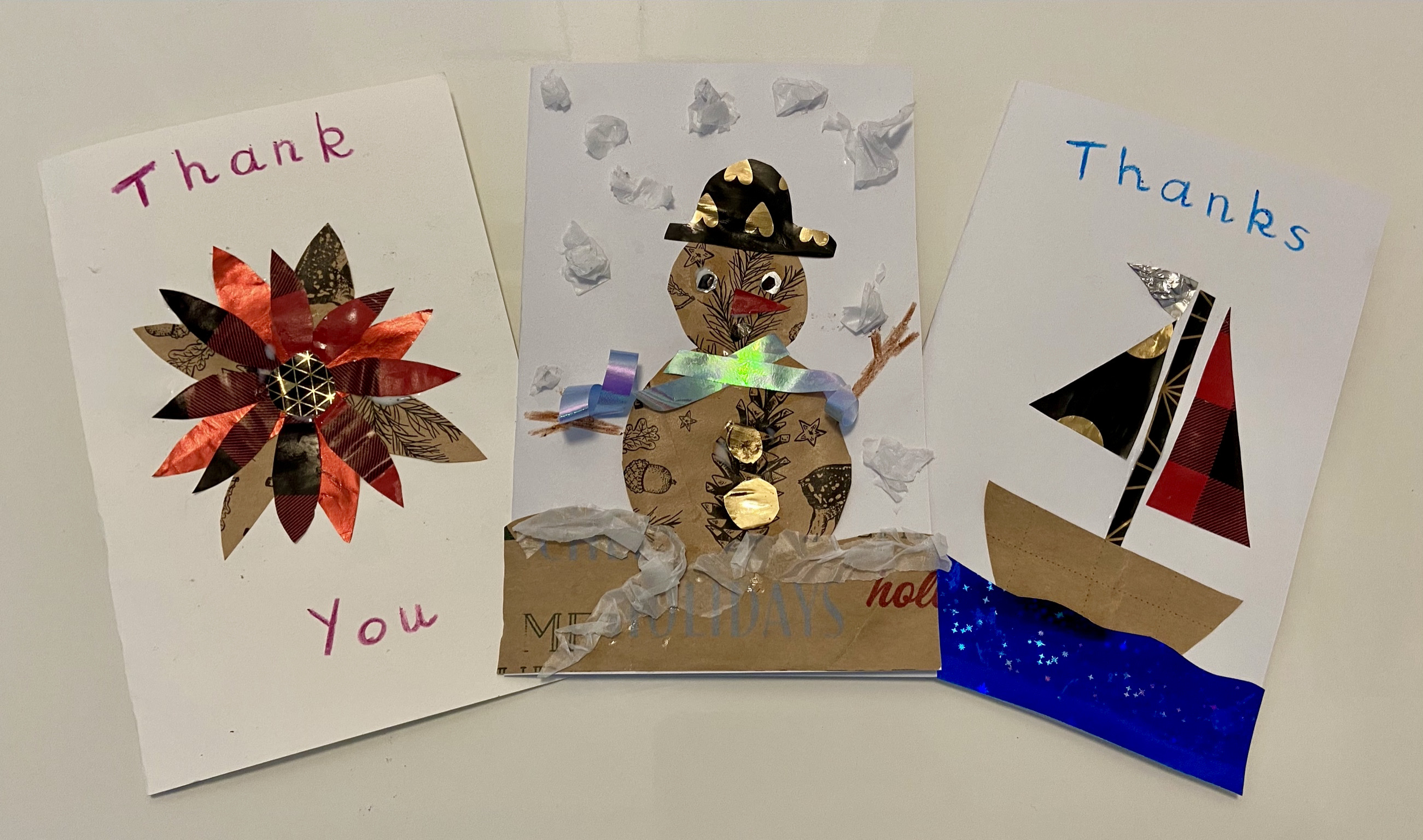 Recycled Gift Wrap Cards